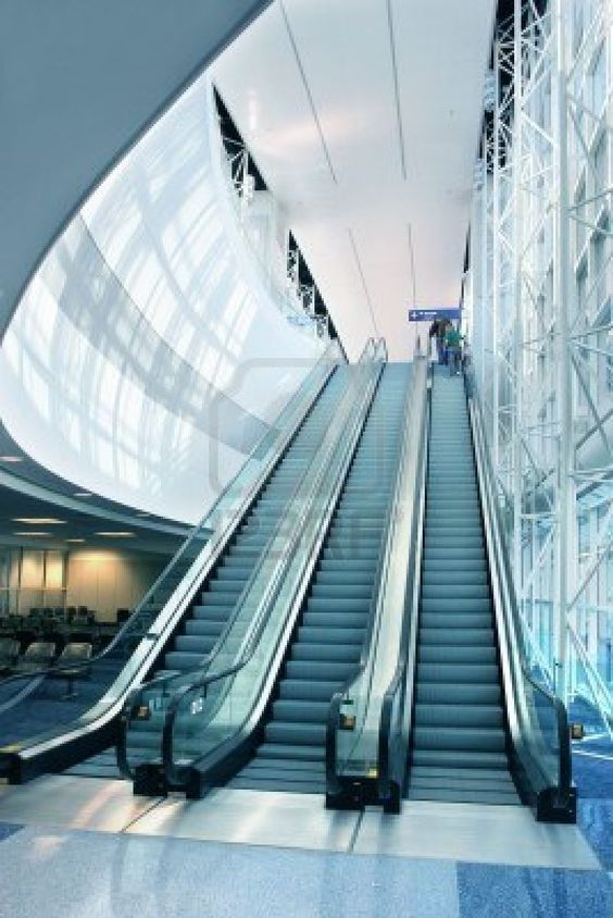 Escalator Tall Lots Of Light Dallas Fort Worth International Airport Escalator Dallas Fort Worth