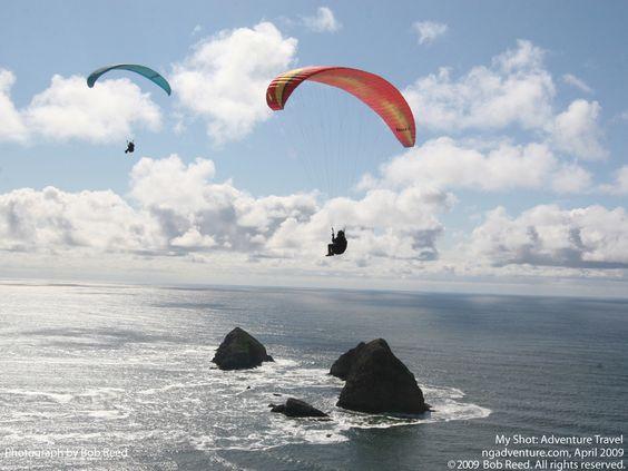 paragliding off oceanside, oregon