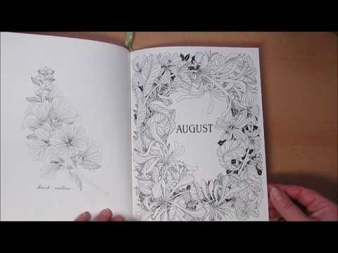 Flip Through Durchplattern Coloring Book The Flower Year Youtube Coloring Books Color Flowers