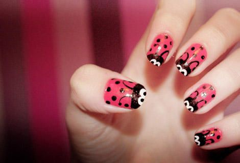 Lady Bugs on Nails: