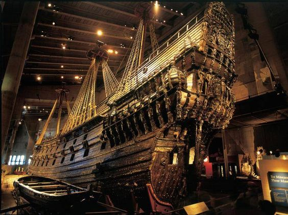 The Vasa Ship in Stockholm.  I need to go see this one day.