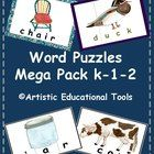 Picture Word Puzzle Cards K-1-2    This Expanded Maga Pack includes 6 sets of word puzzles that I have been selling separately for Kindergarten, 1s...