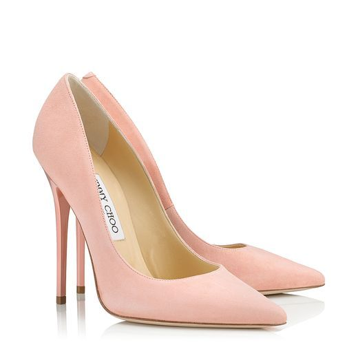 Jimmy Choo Anouk Sorbet Suede Pointy Toe Pumps Pink | Womens shoes ...