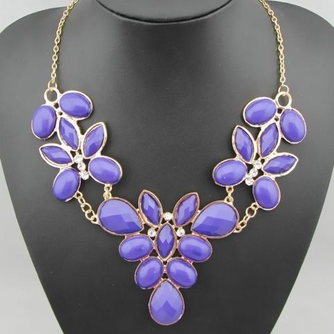 $8.00 Floral Vintage Style Statement Bib Necklace - DEEP PURPLE, Gold & Rhinestone *FREE SHIP ON 1ST ITEM from Felicity http://felicityjewelry.storenvy.com INEXPENSIVE, CHEAP, FUN, FLIRTY JEWELRY
