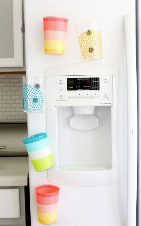 DIY Fridge Magnet Cups ~ Be Different...Act Normal
