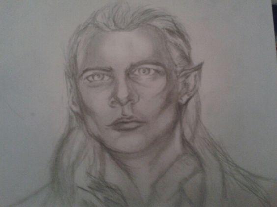Legolas quick sketch  Lotr fan art Elf Thranduils son