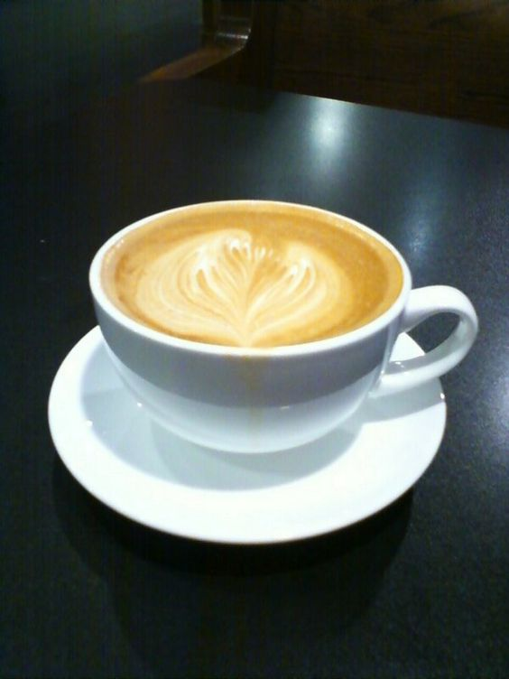 My latte from Thirty-Thirty Coffee in Peoria