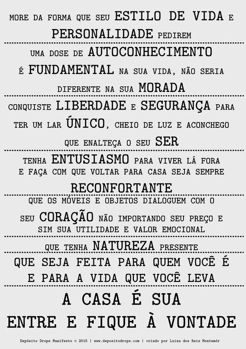 Manifesto Depósito Drops: pela melhor versão da sua casa