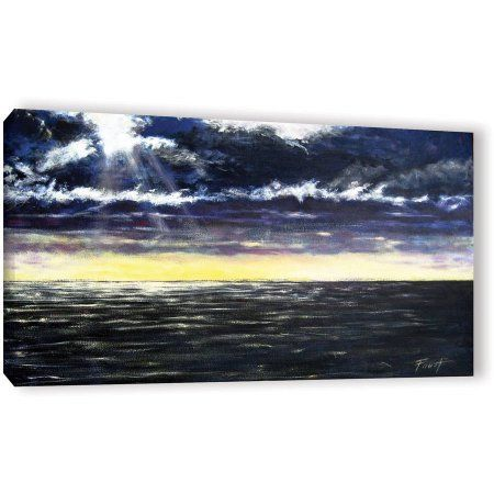 ArtWall Gene Foust Ravage Sea Gallery-Wrapped Canvas, Size: 12 x 24, Blue
