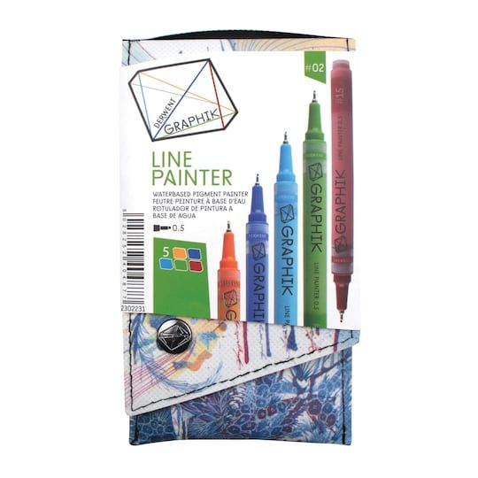 Derwent Graphik Line Painter Marker 5 Color Set 2 Michaels