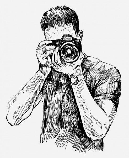 Vector Photographer Stock Illustration Anime Estetico Desenho Desenhos