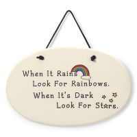 Look for Rainbows Plaque