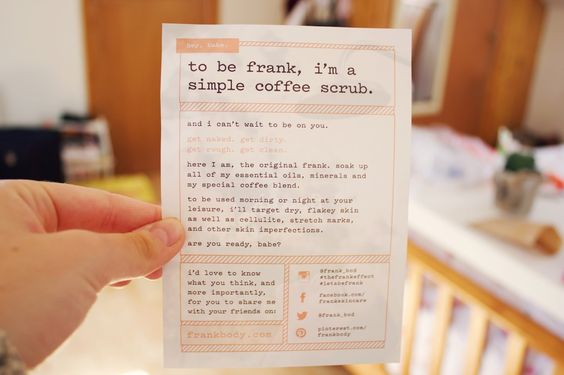 Image result for to be frank coffee scrub