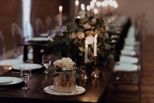 Modern Wedding At Slate Event Studio Pittsburgh Farm Table Wedding Wedding Party Table Sweetheart Table Rental