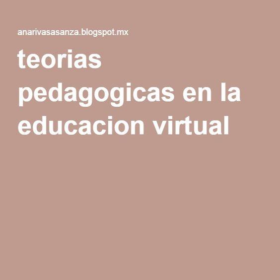 teorias pedagogicas en la educacion virtual