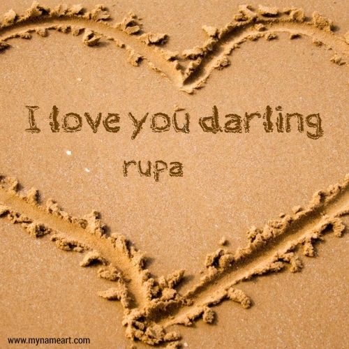 Rupa Name Image Of Darling Sand Writing Online In 2019
