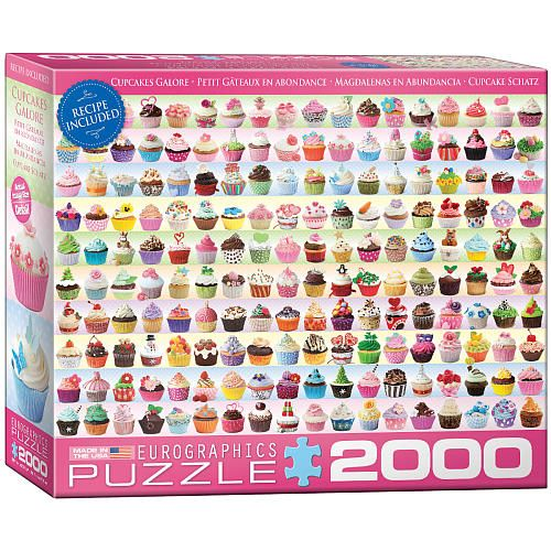 Cupcakes Galore is a 2000 piece jigsaw puzzle from EuroGraphics. Description from puzzlewarehouse.com. I searched for this on bing.com/images