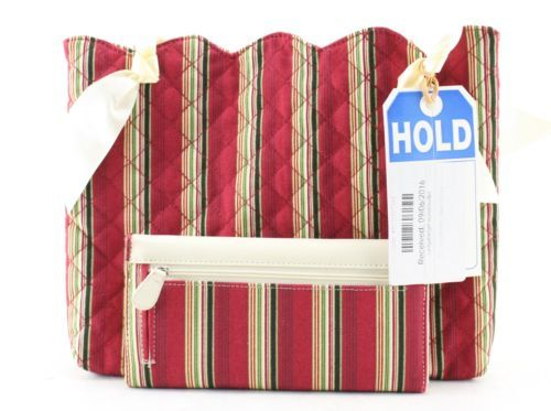 Women's LONGABERGER White And Red Credit Card Bifold Wallet