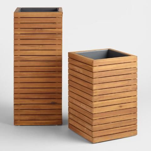Large Wood And Metal Alicante Outdoor Planter Outdoor Planters Diy Planters Outdoor Large Backyard Landscaping