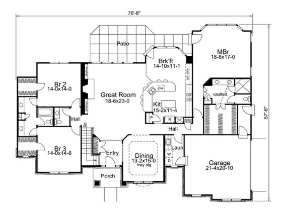 Traditional Style House Plan   Beds   Baths Sq Ft Plan    Traditional House Plan First Floor     House Plans and More           I like the jack and Jill bathroom and the twin bedrooms   walkin closets