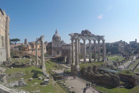 Vue du Forum Romain depuis le Capitole
