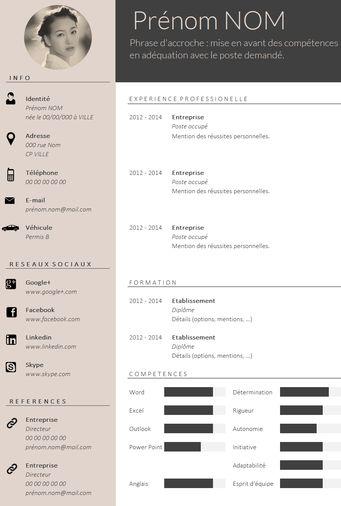 ✿ Envie D'Un Cv Design Et Tendance ? … | Pinteres…