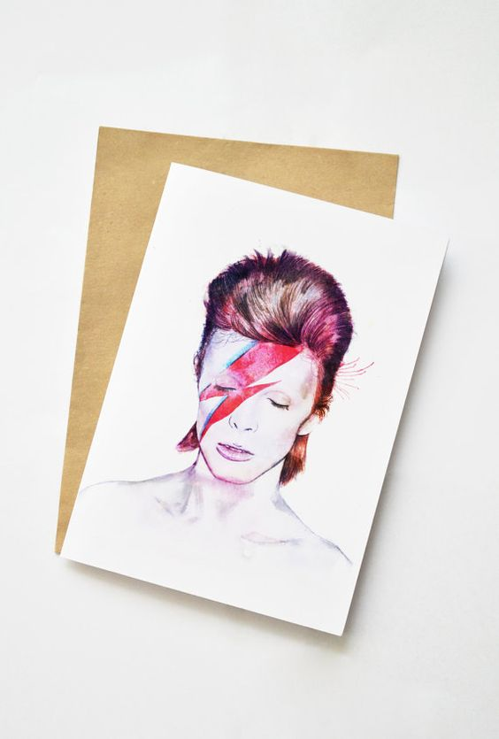 David Bowie Celebrity Icon Greeting card