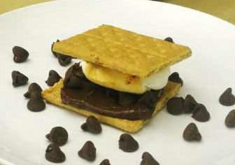 Dark Chocolate Peanut Butter S'mores with the Dark Chocolate Dreams peanut butter!