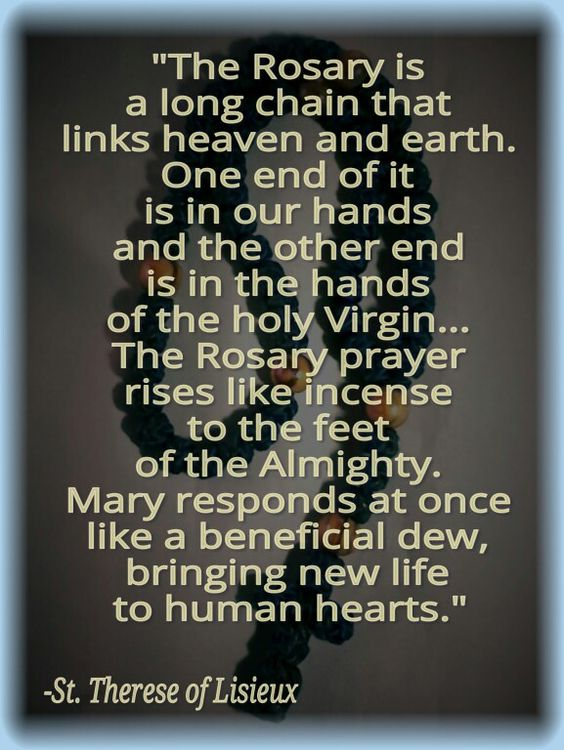 we need to pray the rosary
