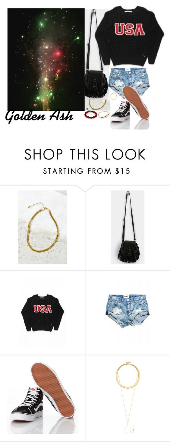 """""""Fireworks #4 Happy 4th Of July 2015"""" by fashionsetstyler ❤ liked on Polyvore featuring Vans, BaubleBar, Shamballa Jewels, women's clothing, women, female, woman, misses and juniors"""