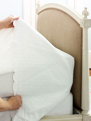 house cleaning tips - making your bed