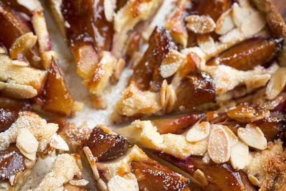 Almond Cream and Plum Tart Recipe
