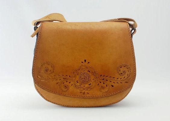 Sac en cuir sac bandoulière sac à main par 2TreesLeatherCrafts