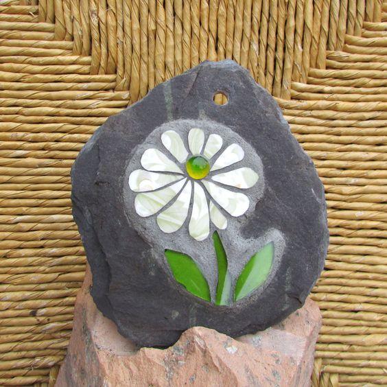 Thistle Sage Apartments: Soft Sage Green Daisy Mosaic On Slate
