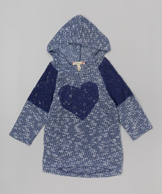 Another great find on #zulily! Speechless Navy Lace Heart Hoodie by Speechless #zulilyfinds