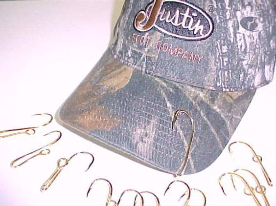 Hats with fish hooks for Fishing hooks for hats