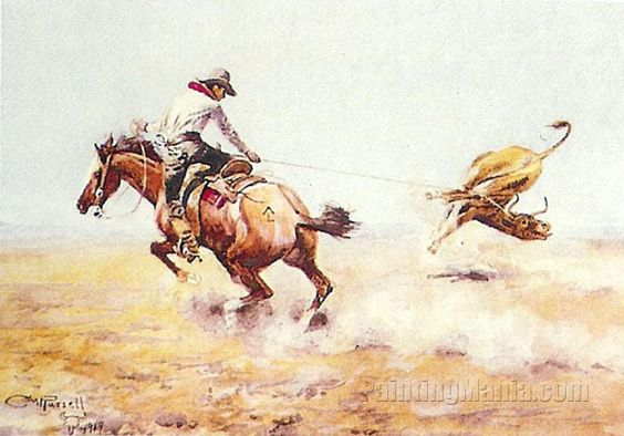 End of the Rope by Charles Marion Russell