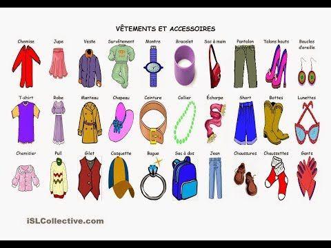 تعلم اللغة الفرنسية اسماء جميع الملابس باللغة الفرنسية مع النطق Vocabulaire Les Vetements Youtube Learn French French Outfit Clothes