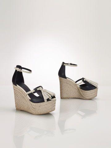 Calfskin Esme Espadrille - Polo Ralph Lauren Sandals - RalphLauren.com
