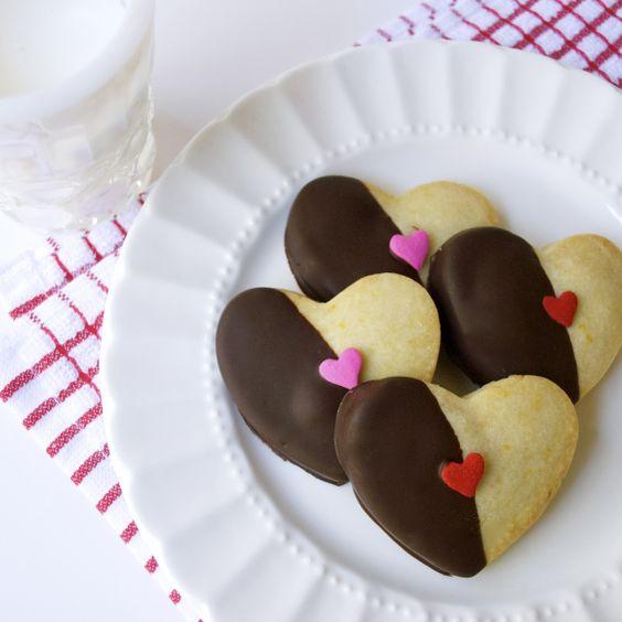 Orange Cardamom Shortbread Sweet-Hearts
