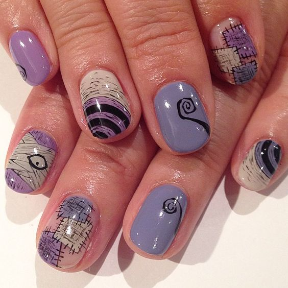 Tim Burton inspire art nails #Timburton #avarice #art #nails #nailart #design…