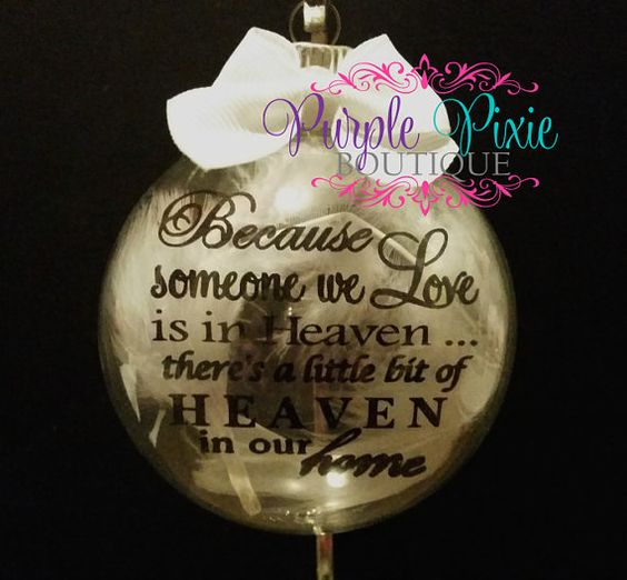 Because someone we love is in HEAVEN glass by MyPurplePixie