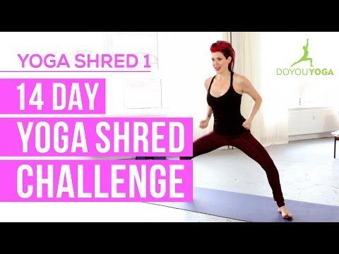 Cardio Yoga for Fat Burning - Day 1 - 14 Day Yoga Shred Challenge - YouTube