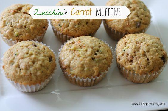Zucchini & carrot muffins: