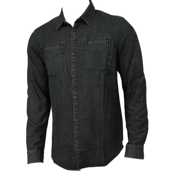 #Rusty Clothing Mens Woven East Village Blue