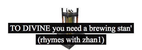 占, zhan1, to divine.When you get to the farm don`t forget to Zhan1