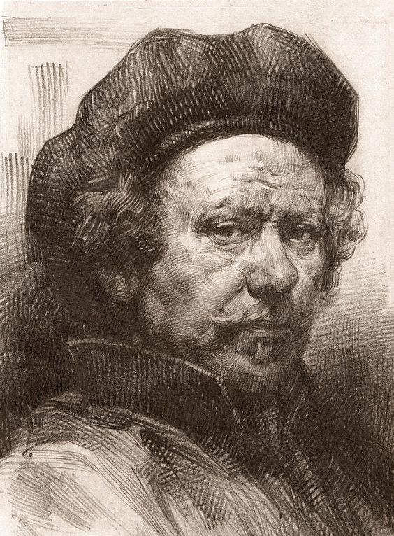 Rembrandt Portrait 2 Canvas Print / Canvas Art by Behzad Sohrabi