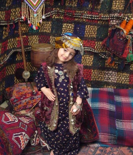 Iranian Princess in Lorish traditional dress of Iran
