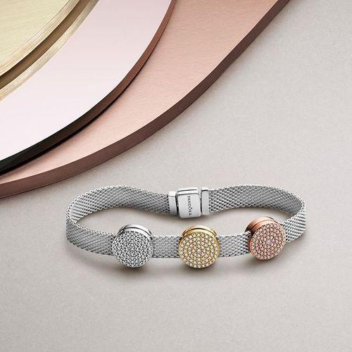 Round Pave Charm Pandora Jewelry Charms Body Jewelry Shop Pandora Jewelry