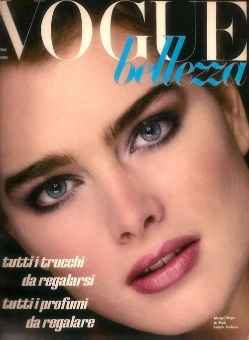 Brooke Shields December 1983 Spanish Vogue cover.